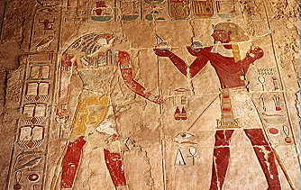 Colour reliefs at Hatshepsut templ